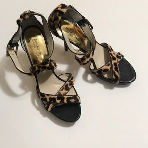 Michael Michael Kors leopard strap heel sandals